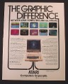 Magazine Ad for Atari 800 Computer, The Graphic Difference, 1981