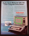 Magazine Ad for Radio Shack TRS-80 Color Computer, Made Better 1981