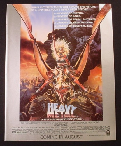 Magazine Ad for Heavy Metal Movie, A Step Beyond Science Fiction, 1981