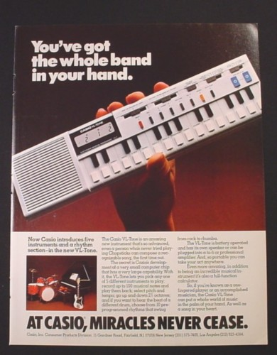 Magazine Ad for Casio VL-Tone Musical Keyboard Instrument, 1981