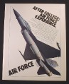 Magazine Ad for Air Force Recruitment, Air Force Experience, Jet, 1981