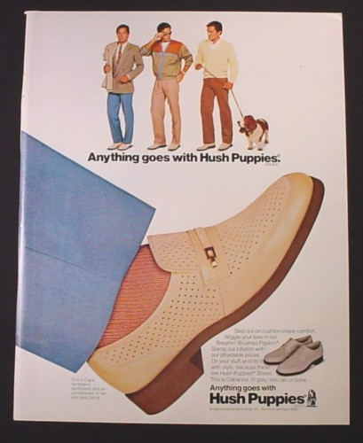 Magazine Ad for Hush Puppies Shoes, Cabana and Copa Styles, 1981