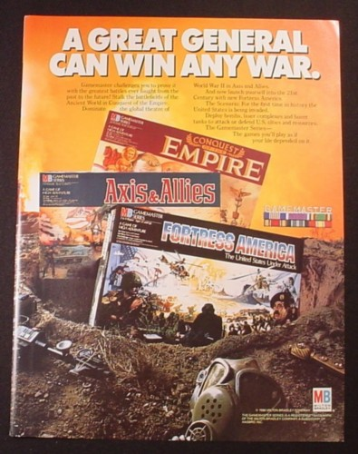 Magazine Ad for Milton Bradley Games, Axis & Allies, Fortress America, 1986