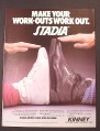 Magazine Ad for Kinney Stadia Aerobics Shoe & Men's Sneaker, 1981