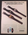 Magazine Ad for Casio Watches, 3 Models FS-21 FS-52 CFS-80, 1986
