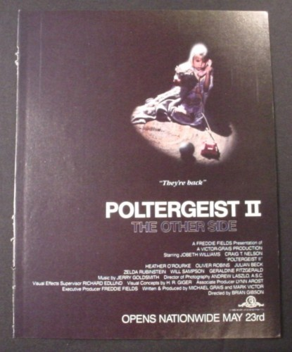 Magazine Ad for Poltergeist II The Other Side Movie, Horror, 1985