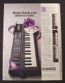 Magazine Ad for Casio PT-87 Keyboard, Musical Instrument, 1988