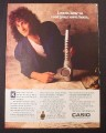 Magazine Ad for Casio DH-100 Digital Horn, Kenny G Celebrity Endorsement, 1988