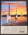 Magazine Ad for Casio DG-10 Digital Guitar Musical Instrument, Electronics, 1988