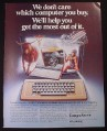 Magazine Ad for CompuServe Videotex Service, 1982
