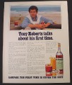 Magazine Ad for Campari, Alcohol, Tony Roberts Celebrity Endorsement, 1982