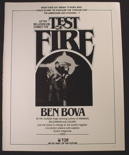 Magazine Ad for Test Of Fire Book Novel, By Ben Bova, Science Fiction, 1982