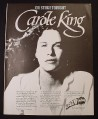 Magazine Ad for RadioRadio Carole King Concert, 1982