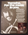 Magazine Ad for Yamaha Stereo System, Chuck Mangione Celebrity Endorsement