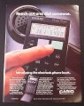 Magazine Ad for Casio QD-100 Quick Dialer, Hold to Phone & Press Button To Dial