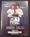Magazine Ad for Magnavox Digital VCR Player, Smothers Brothers Celebrity, 1987