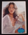 Magazine Ad for Elizabeth Arden Mediterranean Fragrance, Catherine Zeta-Jones