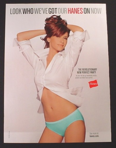 Magazine Ad for Hanes Underwear, Jennifer Love Hewitt Celebrity Endorsement, 2006