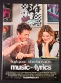 Magazine Ad for Music and Lyrics Movie, Hugh Grant, Drew Barrymore, 2007