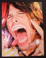 Magazine Ad for Got Milk, Steven Tyler, Mouth Wide Open, Aerosmith, 2002