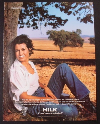 Magazine Ad for Got Milk, Amy Grant, 1998