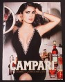 Magazine Ad for Campari, Alcohol, Salma Hayek Celebrity Endorsement, 2007
