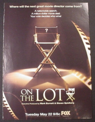 Magazine Ad for On The Lot TV Show, Reality, 2007