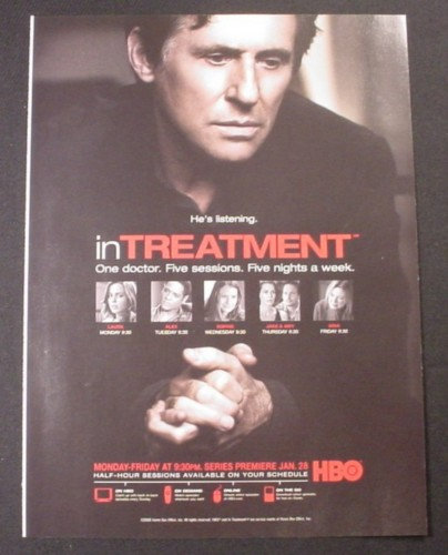 Magazine Ad for In Treatment TV Show, 2008