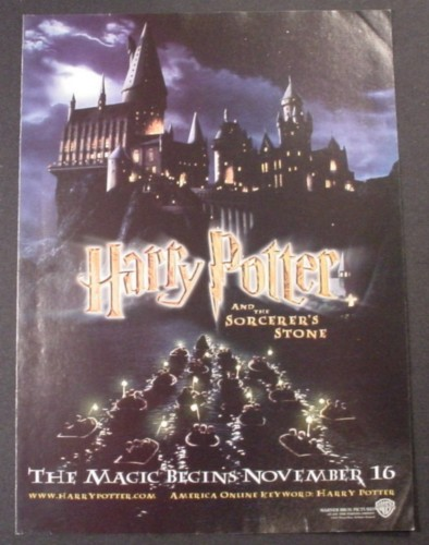Magazine Ad for Harry Potter And The Sorcerer's Stone Movie, 2001