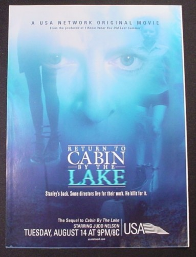 Magazine Ad for Return To Cabin By The Lake TV Movie, Judd Nelson, 2001