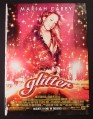 Magazine Ad for Glitter Movie, Mariah Carey, 2001
