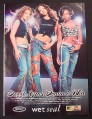 Magazine Ad for Wet Seal Paint for Jeans, 3LW Girl Band Celebrity Endorsement