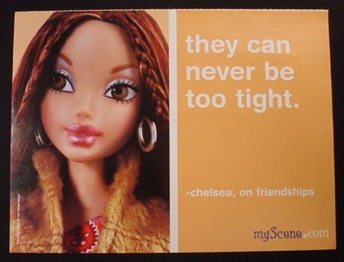 Magazine Ad for My Scene Barbie Doll Toy, Chelsea, 2003