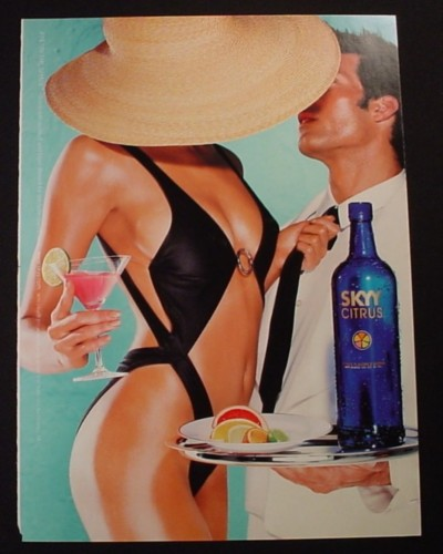 Magazine Ad for Skyy Citrus Vodka #74 In The Shade, 2002