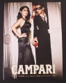 Magazine Ad for Campari, Alcohol, Salma Hayek Celebrity Endorsement, Man In Mask