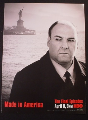 Magazine Ad for The Sopranos TV Show, The Final Episodes, 2007