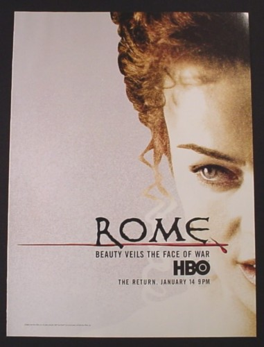 Magazine Ad for Rome HBO TV Show, 2007