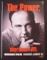 Magazine Ad for The Sopranos TV Show, The Power, 2007