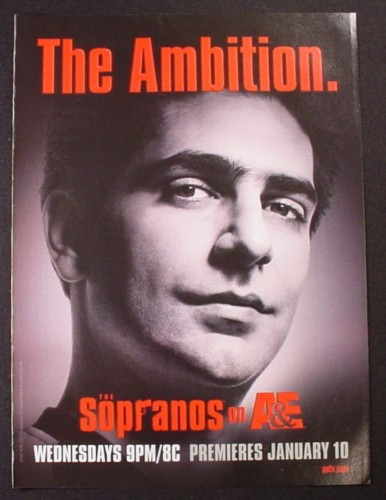 Magazine Ad for The Sopranos TV Show, The Ambition, 2007