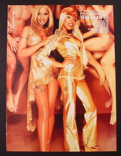 Magazine Ad for Viva Glam III, Mary J. Blige, Lil' Kim, 2000