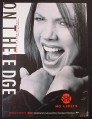 Magazine Ad for On The Edge, TV Show, Vanessa Williams, Showtime, 2000
