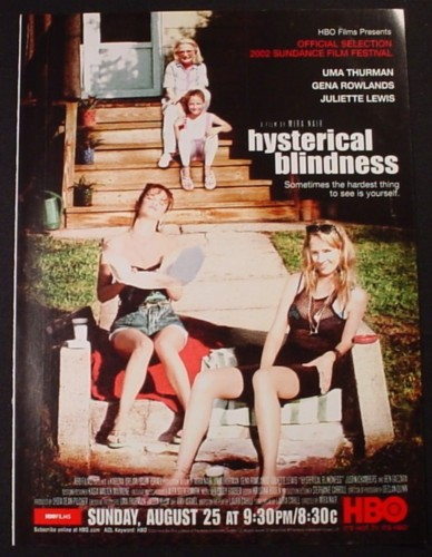 Magazine Ad for Hysterical Blindness, HBO TV Show, 2003