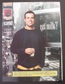 Magazine Ad for Got Milk, Carson, 2001