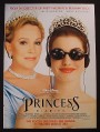 Magazine Ad for The Princess Diaries Movie, Anne Hathaway, Julie Andrews