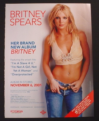 Magazine Ad for Britney Spears New Album Britney, Music, 2001