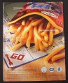 Magazine Ad for McDonalds Monopoly Board & French Fries, 2001
