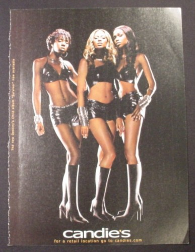 Magazine Ad for Candies Fragrances, Destiny's Child Musical Group Celebrity
