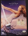 Magazine Ad for Celine Dion Perfume, Celebrity Endorsement, Swing, 2004