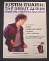 Magazine Ad for Justin Guarini Debut Album, American Idol, 2002