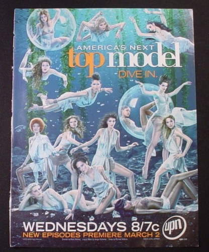 Magazine Ad for America's Next Top Model TV Show, 2005